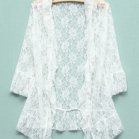 'The Jenny' White Lace Cardigan