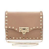 Valentino Rockstud Pouch Crossbody Bag, Taupe