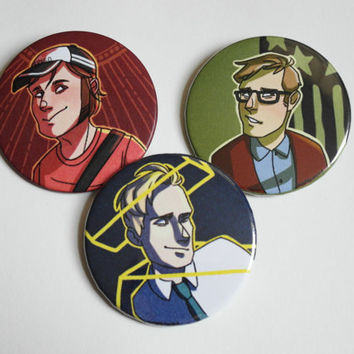 Set of 3 Patrick Stump Buttons