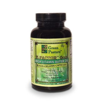 Green Pasture X-FACTOR GOLD High-Vitamin Butter Oil 500 mg 120 Capsules