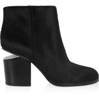 Alexander Wang - Gabi cutout calf hair ankle boots