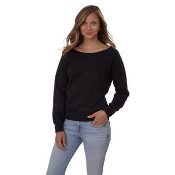 French Terry Ballet Neck Pullover - Women's