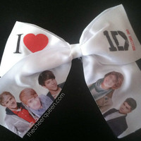 One Direction Cheer Bow by thecheerqueenbows on Etsy