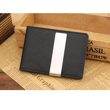 2015 New Fashion men wallets with PU Leather Magic style for Credit Card Money