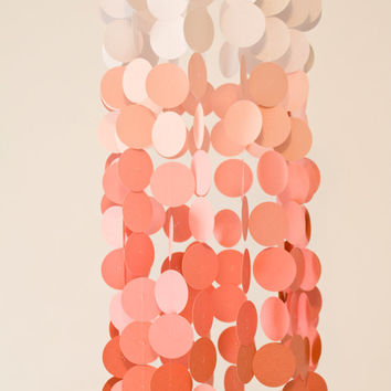 Coral Ombre Paper Crib Mobile, Modern circle mobile, modern crib mobile, nursery mobile, teen room, dorm room, wedding decor, photo booth