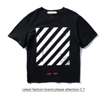 Cheap Women's and men's OFF-WHITE t shirt for sale 85902898_0194