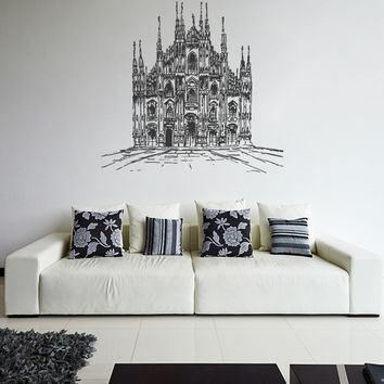 ik1045 Wall Decal Sticker Milan Cathedral Italy bedroom