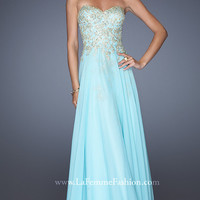 Strapless Sweetheart Floor Length La Femme Dress