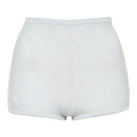 Premium Ribbed Shorts - Pale Blue