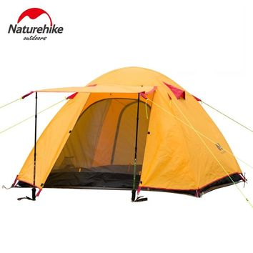 NatureHike Large Camping Tent  3 Person Ultralight Tents Outdoor Double-Layer Waterproof Windproof 3 Seasons Hiking