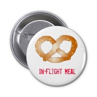 pretzel, In-Flight Meal Buttons