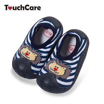 Baby Socks with Rubber Sole Cartoon Rabbit Infant Slippers Newborn Girls Floor Socks Boys Knitted Cotton First Walkers