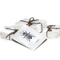 Bee Matchbook Notepads- Mini- Note Pads - Set of 6