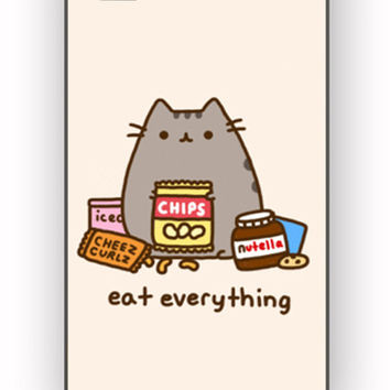 Pusheen The Cat Eat Every Thing for iPhone 4/4S Case *