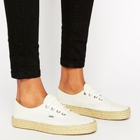 Vans Authentic Trainers With Espadrille Sole at asos.com