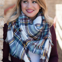 White Blanket Scarf