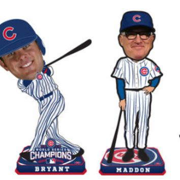 Chicago Cubs 2016 World Series Champions 4-Pack Mini Bobblehead Set