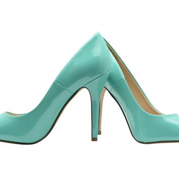 Women Classic Pointy Toe Leatherette High Heel Dress Shoes