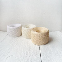 10.5oz -300gram Linen Yarn, linen thread, white yarn, snow white and creme ivory
