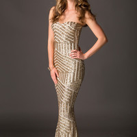 Isabella Gold Sequin Gown