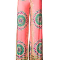 Double Vision Printed Palazzo Pants - Neon Pink | Daily Chic