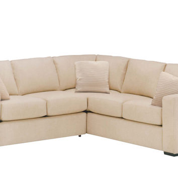 Sutton Place II Fabric True Sectional with Twin Sleeper Sofa