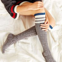 Marled Varsity Stripe Over-the-Knee Socks - Urban Outfitters