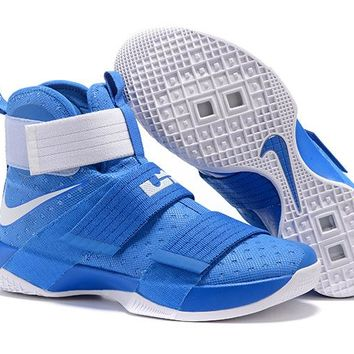 HCXX Nike Men's Lebron Soldier 10 Basketball Shoes Blue 40-46