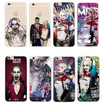 Phone Cover Margot Robbie Harley Quinn Suicide Squad DC Comics Transparent Case For iPhone 8 X 5 5S 5C 6 6S 7 Plus SE Fundas