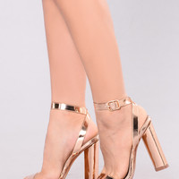 Macy Metallic Heel - Rose Gold