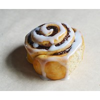 Cinnamon Roll Food Magnet, Miniature Food Refrigerator Magnet, Locker Decor