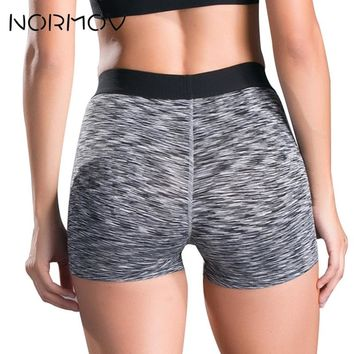 NORMOV Sweat Yoga Shorts Tight Women High Waist Running Shorts Fitness Clothing Female Workout Shorts Sport Femme 5 Color