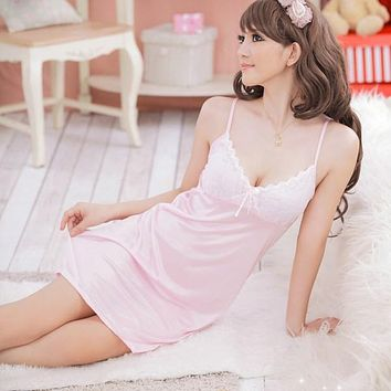 Women Sexy Lingerie Dress Underwear Babydoll Sleepwear+G-string Nightwear Sleepwear Sets