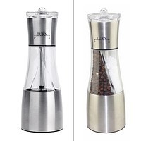 2 in 1 Salt Pepper Shakers Manual Mill Spices Peppercorn Grinder Steel Portable Kitchen Manual Salt Pepper Mill Muller Tool