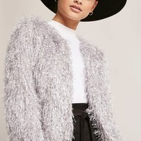 Fringed Open-Front Jacket