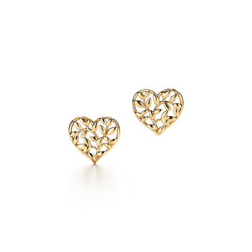 Tiffany & Co. - Paloma Picasso®:Olive Leaf<br>Heart Earrings