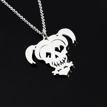 Suicide Squad Necklace Harley Quinn Joker Stainless Steel Pendant necklace for women men jewelry skull choker Halloween gift