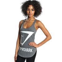 GymShark Emblem Tank Top - Grey All women's wear | GymShark International | Be a visionary