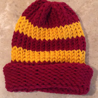 Harry Potter Inspired Gryffindor Baby Infant Knitted Winter Hat