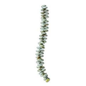 LEN06-02020-28001 - Czech Glass Lentil Beads, 6mm, White Marea | Pkg 1 Strand