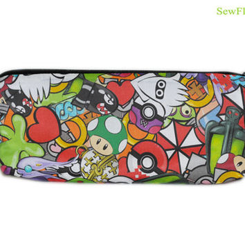 NEW Video Game Pencil Case | Pokemon | Poke Ball | Mario Brothers | Zelda | Pacman | Sonic | Portal | Companion Cube