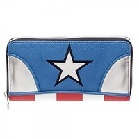Marvel Captain America Juniors Zip Around Wallet