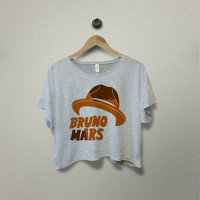 Bruno Mars Hat Crop TShirt Crop Shirt Crop Tees