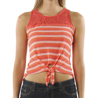 Lace Shoulder Tie Tank | Shop Tops at Wet Seal