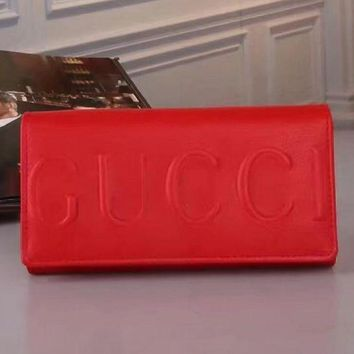 PEAPON GUCCI Women Leather Buckle Wallet Purse