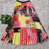 VERSACE Summer Hot Sale Women Casual Personality Print Skirt