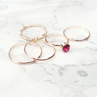 Bejeweled Ring Set