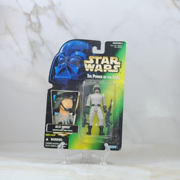 Vintage Star Wars The Power of the Force AT-ST Driver, Action Figure, 1997