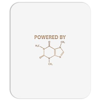 Powered By Caffeine Molecule Mousepad