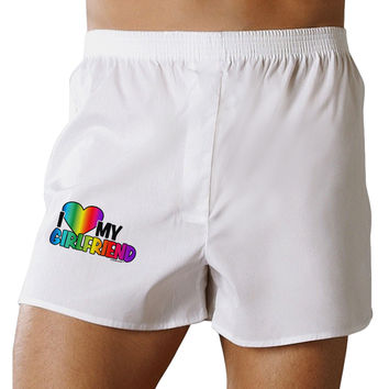 I Heart My Girlfriend - Rainbow Boxer Shorts